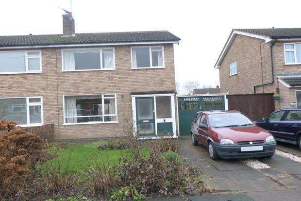 3 Bedrooms Semi Detached House for sale in Keble Drive, Syston, Leicester, LE7
