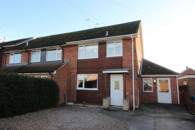 3 Bedrooms Semi Detached House for sale in Carlton Crescent, East Leake
