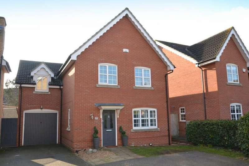 4 Bedrooms Detached House for sale in Wren Close, Stowmarket, IP14 5NT