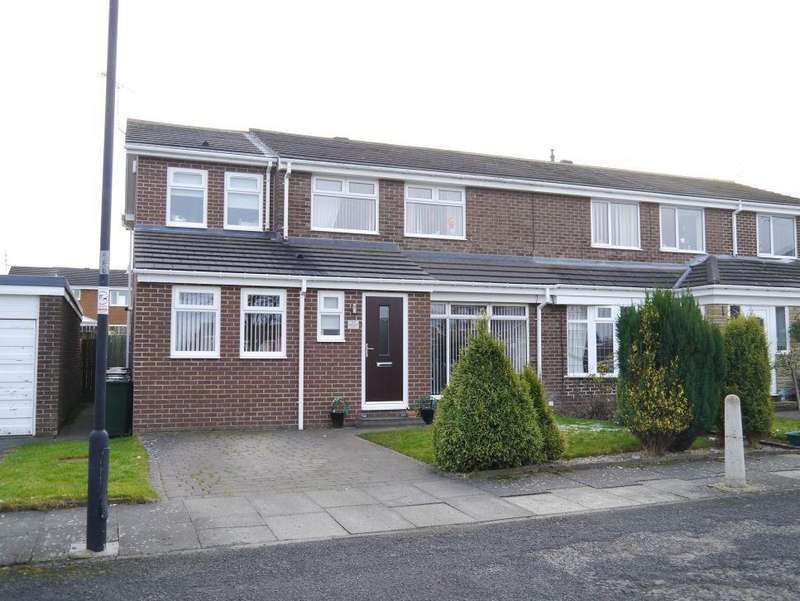 4 Bedrooms Semi Detached House for sale in Abingdon Court, Kingston Park