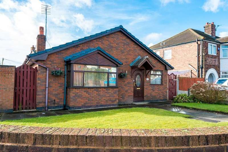 2 Bedrooms Detached Bungalow for sale in Derbyshire Hill Road, Parr, St. Helens