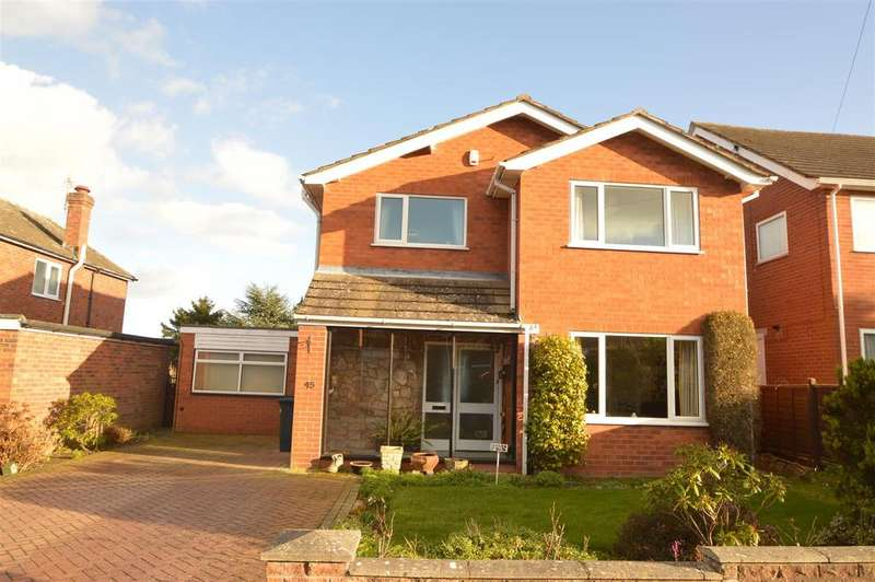 3 Bedrooms Detached House for sale in 45 Cornwall Drive, Bayston Hill, Shrewsbury SY3 0EP