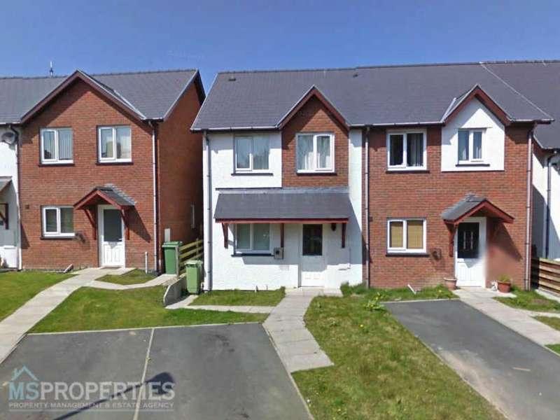 3 Bedrooms Semi Detached House for sale in Y Gerddi, Blaenplwyf, Aberystwyth