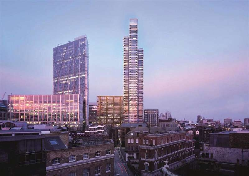 1 Bedroom Flat for sale in Principal Tower, Shoreditch Highstreet, London, EC2M