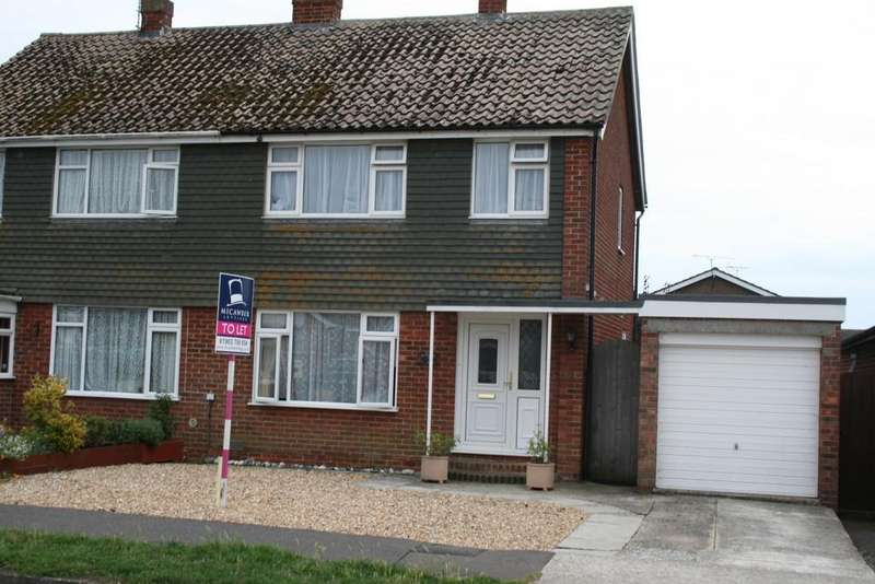 3 Bedrooms Semi Detached House for rent in Chantryfield Road, Angmering, West Sussex