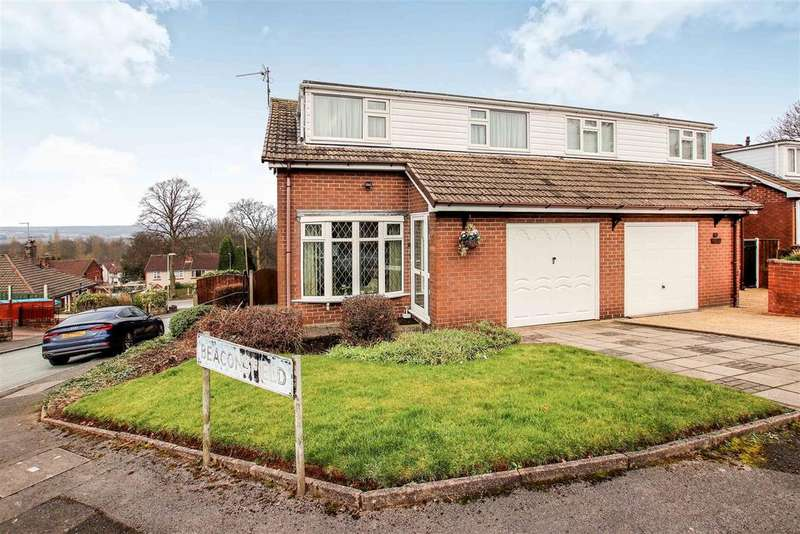 3 Bedrooms Semi Detached House for sale in Beaconsfield, Off Second Avenue, Porthill, Newcastle