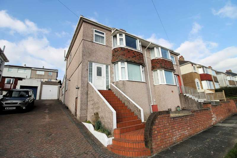 3 Bedrooms Semi Detached House for sale in Darwin Crescent, Crabtree, Plymouth, PL3 6DT