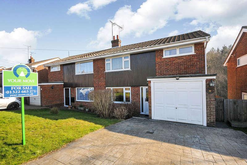 3 Bedrooms Semi Detached House for sale in Hever Wood Road, West Kingsdown, Sevenoaks, TN15