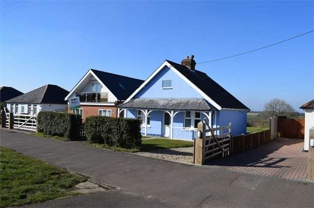 2 Bedrooms Detached Bungalow for sale in New Dover Road, Capel-le-Ferne, Folkestone, Kent