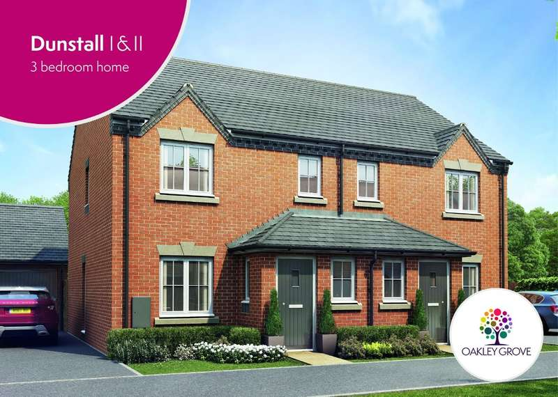 3 Bedrooms Semi Detached House for sale in Plot 87 Dunstall II Oakley Grove