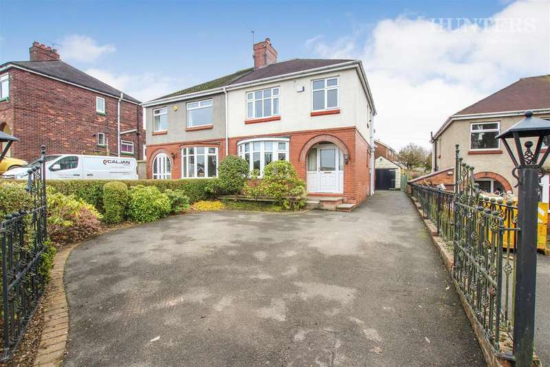 3 Bedrooms Semi Detached House for sale in Halls Road, Biddulph, Stoke-on-Trent, ST8 6DD
