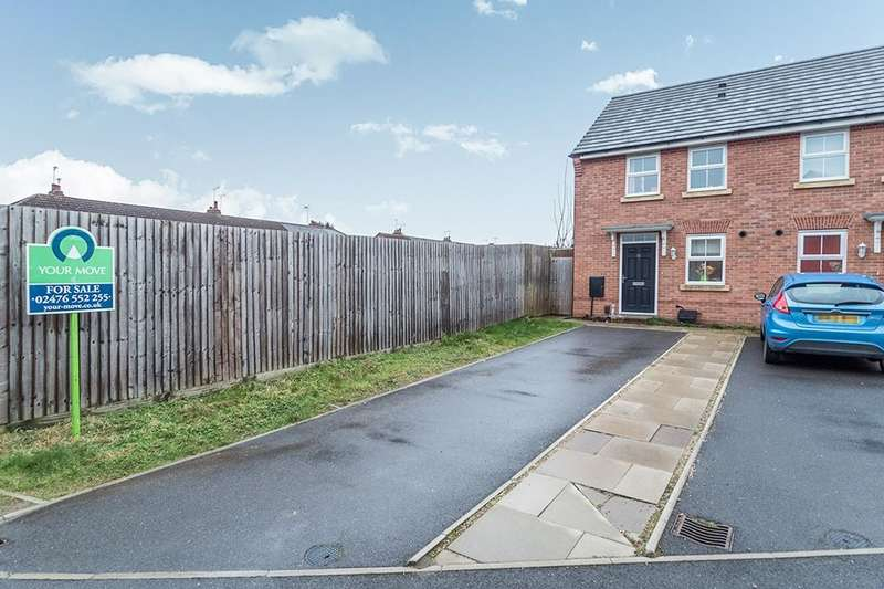 2 Bedrooms Semi Detached House for sale in Buttercup Walk, Coventry, CV3