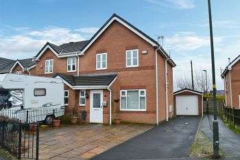 3 Bedrooms Semi Detached House for sale in Lyon Road, Springfield, Wigan, WN6 7ER