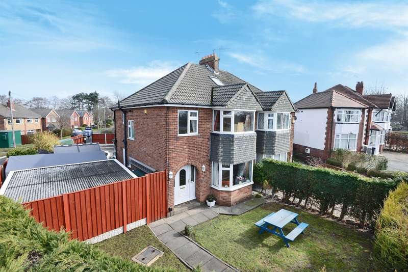 3 Bedrooms Semi Detached House for sale in King Lane, Alwoodley, Leeds, LS17 7AJ