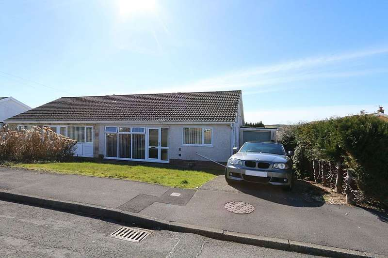 2 Bedrooms Semi Detached Bungalow for sale in Larch Crescent, Llanelli, Sir Gaerfyrddin, SA14 8DU