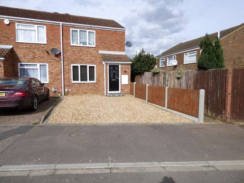 2 Bedrooms End Of Terrace House for sale in Northdale Close, Kempston, Bedford, MK42 8NG