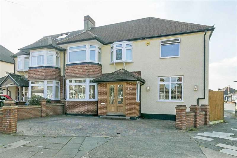 4 Bedrooms Semi Detached House for sale in Walsingham Gardens, Stoneleigh, Surrey