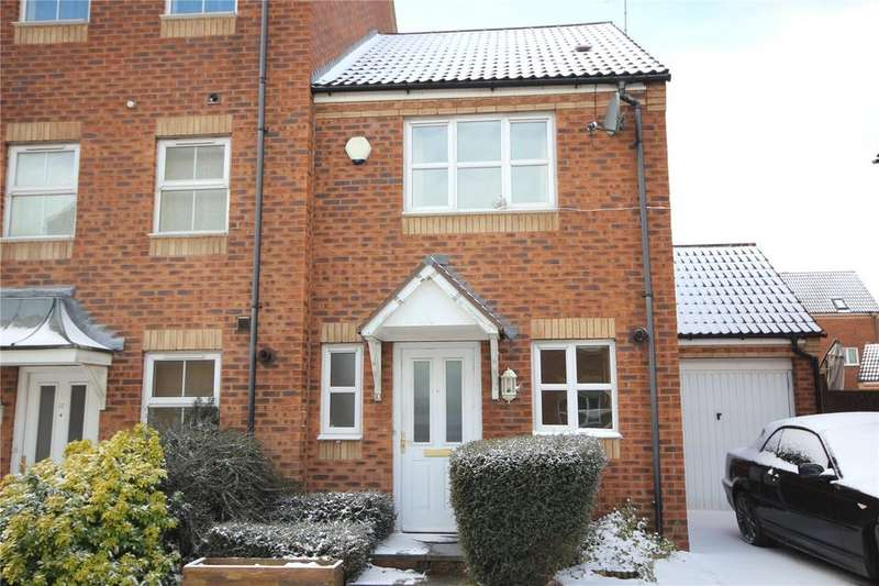 2 Bedrooms End Of Terrace House for sale in High Hazel Drive, Mansfield Woodhouse, Nottinghamshire, NG19