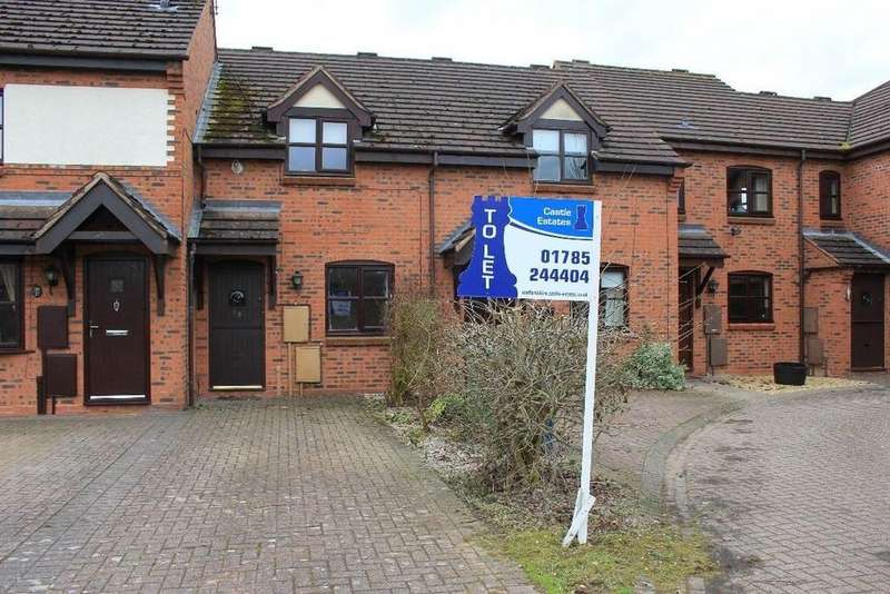 2 Bedrooms Terraced House for rent in Pellfield Court, Weston, Staffordshire, ST18 0JG