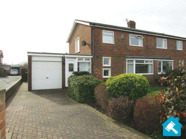 3 Bedrooms Semi Detached House for sale in REGENT ROAD, RYHOPE, SEAHAM DISTRICT