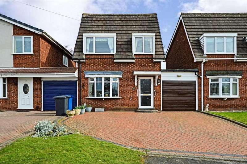 3 Bedrooms Detached House for sale in Sandown Close, Chase Terrace, Burntwood, Staffordshire