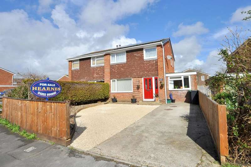 4 Bedrooms Semi Detached House for sale in Barns Road, Ferndown