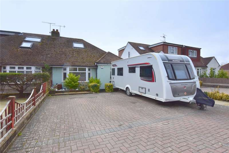 2 Bedrooms Semi Detached Bungalow for sale in Upper Brighton Road, Sompting, West Sussex, BN15