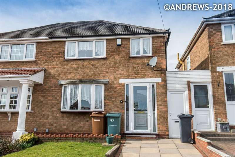 3 Bedrooms Semi Detached House for sale in Stonehurst Road, Great Barr, BIRMINGHAM