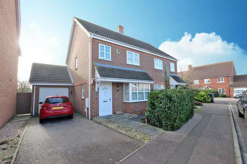 3 Bedrooms Semi Detached House for sale in Trow Close, Cotton End, Bedford