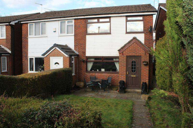 3 Bedrooms Semi Detached House for sale in Hanging Lees Close, Newhey, Rochdale, OL16 3SG