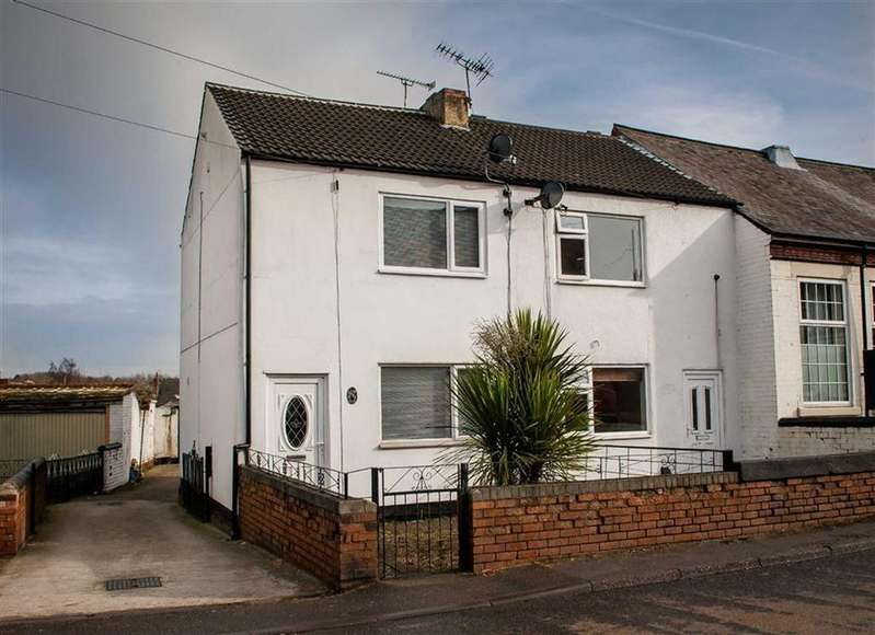 3 Bedrooms Semi Detached House for sale in North Wingfield Road, Grassmoor, Chesterfield, Derbyshire, S42