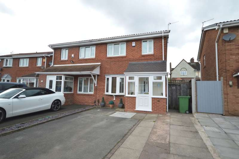 3 Bedrooms Semi Detached House for sale in Pebworth Grove, Dudley, DY1