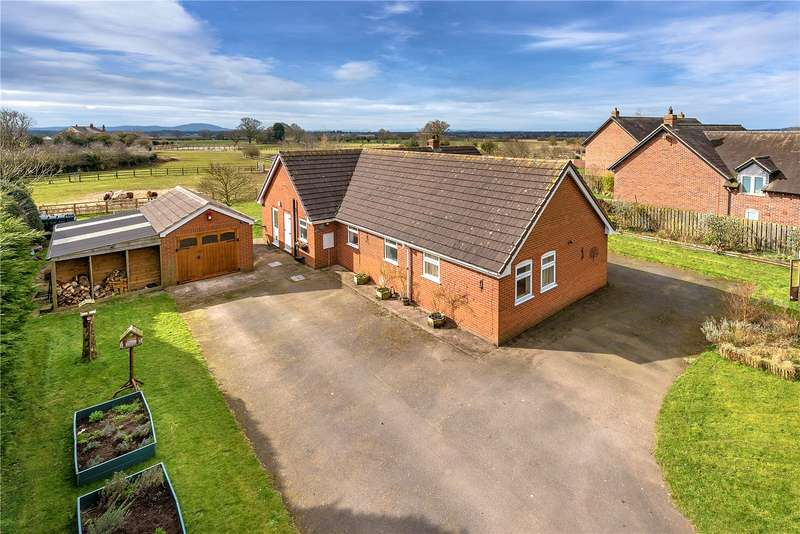 3 Bedrooms Detached Bungalow for sale in The Meadows, Village Road, Childs Ercall, Market Drayton, Shropshire, TF9