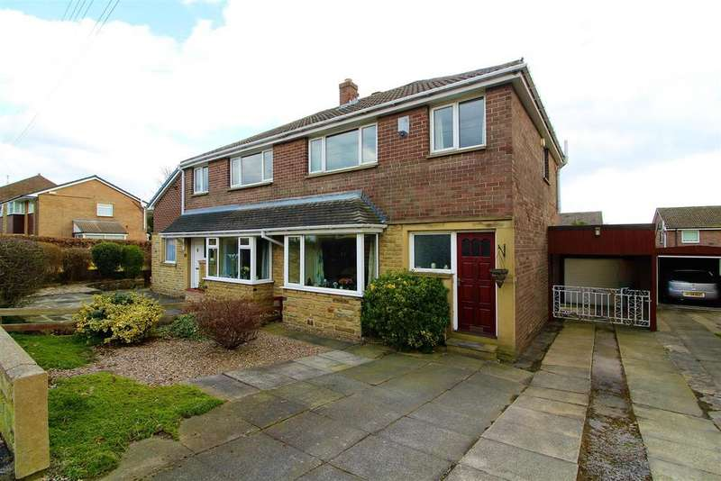 3 Bedrooms Semi Detached House for sale in Meadow Park, Kirkheaton, Huddersfield, HD5 0HX