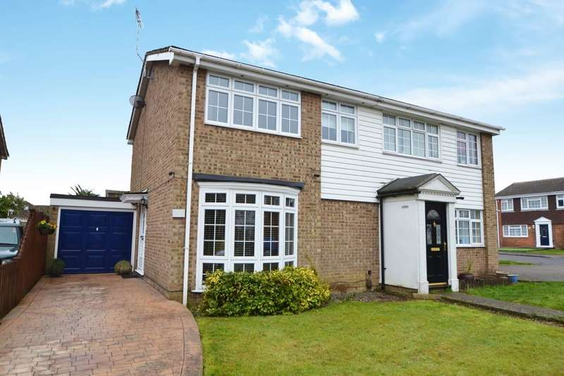 3 Bedrooms Semi Detached House for sale in Meadow Close, Walderslade, Chatham, ME5