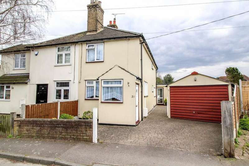 3 Bedrooms Semi Detached House for sale in Crow Green Road, Pilgrims Hatch, Brentwood, Essex, CM15