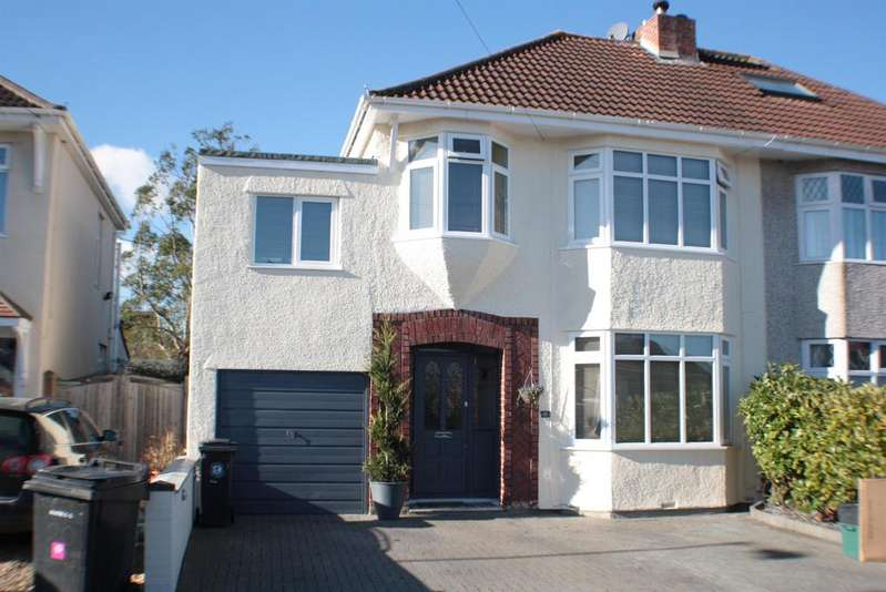 4 Bedrooms Semi Detached House for sale in Highridge Green, Uplands, Bristol, BS13 8BH