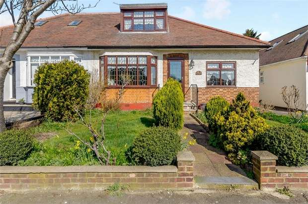 4 Bedrooms Semi Detached Bungalow for sale in Pettits Lane North, Romford, Essex