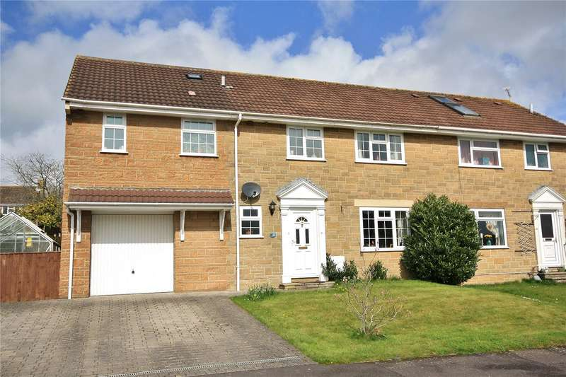 4 Bedrooms Semi Detached House for sale in Manor Drive, Merriott, Somerset, TA16