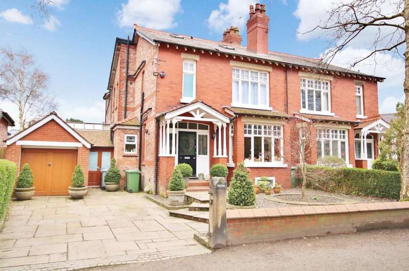 4 Bedrooms Semi Detached House for sale in Hall Road, Wilmslow