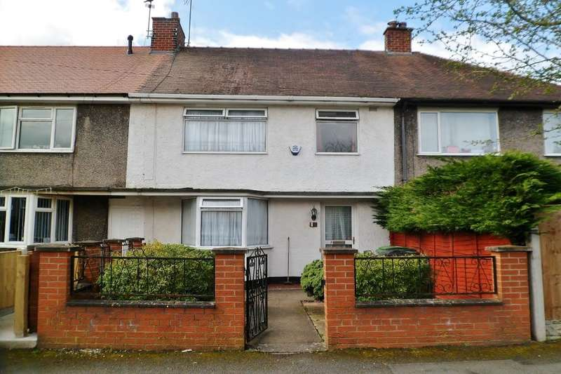 3 Bedrooms Terraced House for sale in Warwick Avenue, Wrexham, LL13