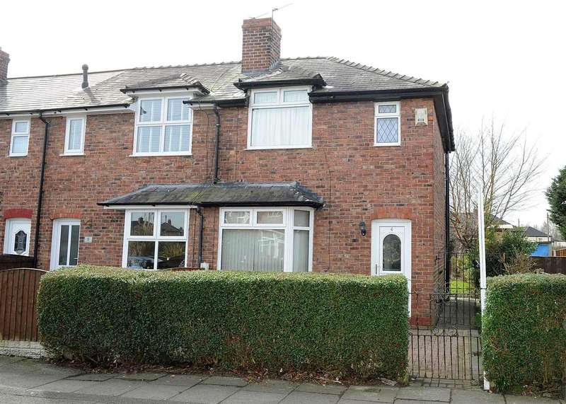 2 Bedrooms End Of Terrace House for sale in 4 Warwick Road, Cadishead M44 5HE