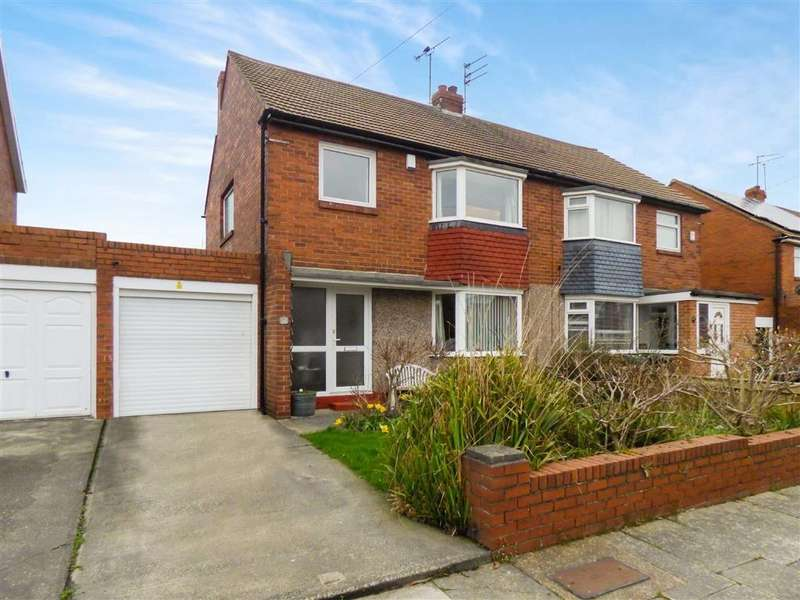 3 Bedrooms Semi Detached House for sale in Frankland Drive, Monkseaton