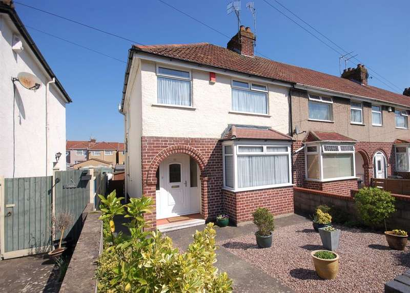 3 Bedrooms End Of Terrace House for sale in Southfield Avenue, Kingswood, Bristol, BS15 4BQ
