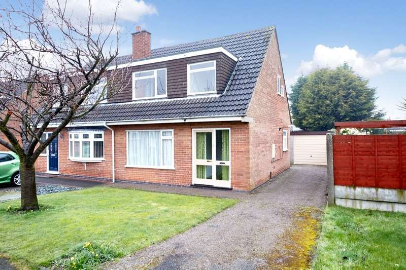 3 Bedrooms Semi Detached House for sale in Dickens Drive, Swadlincote, DE11