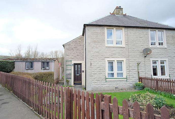 2 Bedrooms Semi Detached House for sale in 22 Dalatho Street, Peebles, EH45 8DY