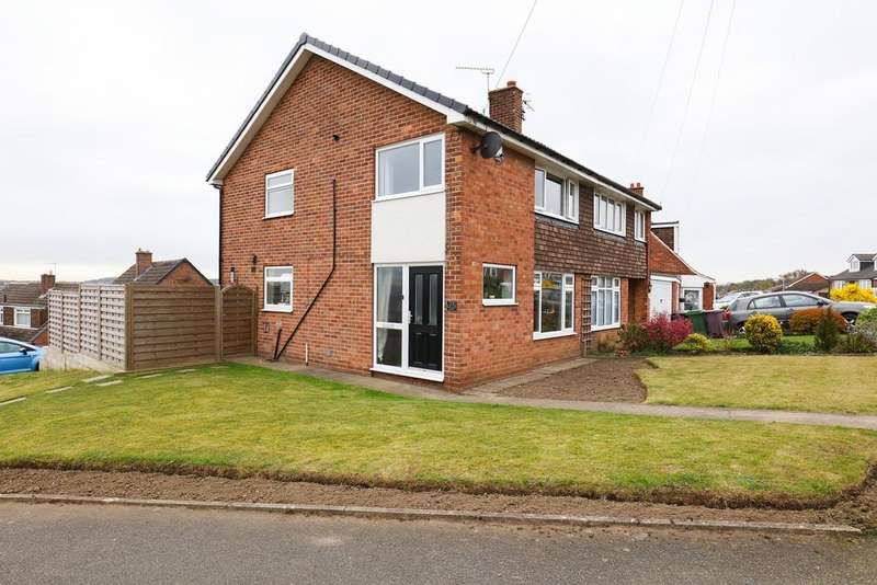3 Bedrooms Semi Detached House for sale in Hollins Spring Avenue, Dronfield