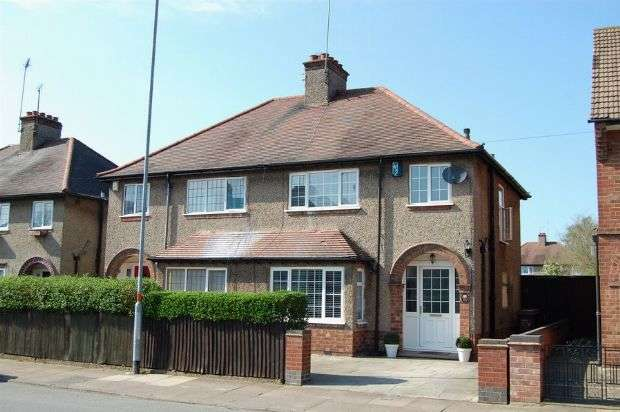 3 Bedrooms Semi Detached House for sale in Birchfield Road East, The Headlands, Northampton NN3 2SY