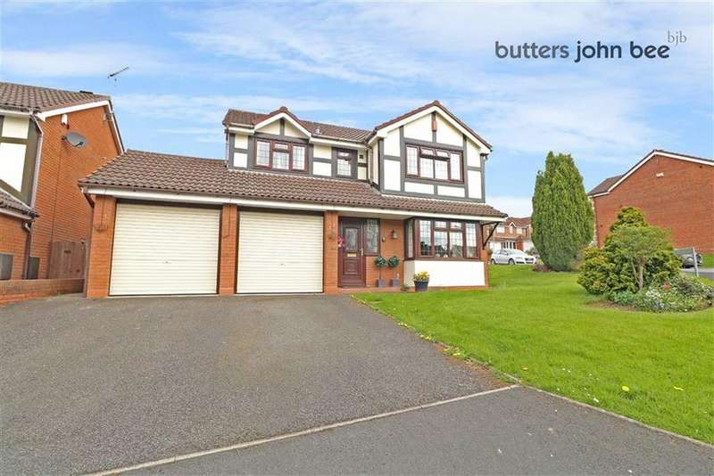 4 Bedrooms Detached House for sale in Ambleside Close, Stone, Staffordshire