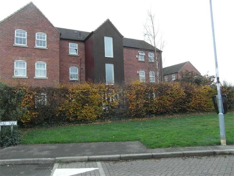 2 Bedrooms Flat for sale in Herons Court, Whitworth Avenue, HINCKLEY, Leicestershire